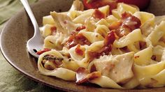 Progresso® chicken broth provides a simple addition to this chicken and pasta casserole – a mild dinner.
