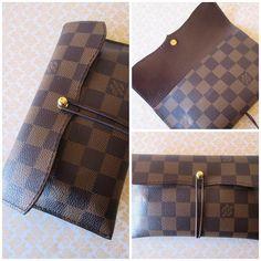 Custom pen case fully lined in chocolate Italian kid leather. Paperflower.com.au #paperflower #paperflowerds #planner #plannergeek #plannergirl #leatherpencase #midori #hobonichi #filofax #journal