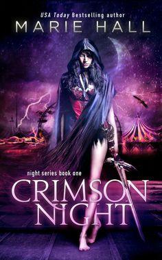 Crimson Night - Marie Hall (cover by Amanda Kelsey of razzdazzdesign.com)