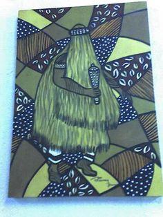 Omulu acrílico s/tela 70x50 pintado por Bianca Branco