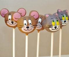 Tom and Jerry Cake Pops