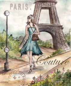 paris - Page 44 Decoupage Vintage, Vintage Art, Tour Eiffel, Eiffel Tower Pictures, Image Paris, Paris Romance, Paris Poster, Paris Images, Paris Mode