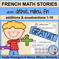 French Word Problems Résolutions de problèmes en mathématiques This free sample is part of a growing bundle. Check it out by clicking on the link below: French math Stories (Growing Bundle) Math Story Problems, Word Problems, Subtraction Activities, Math Activities, Chore Chart Pictures, Teaching French Immersion, Communication Orale, French Teaching Resources, French For Beginners
