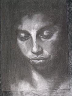study in charcoal of Esther Kohinor