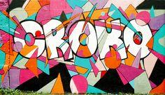 Sylvain Combe - Croko #graffiti #crocodile #multicolored #geometric