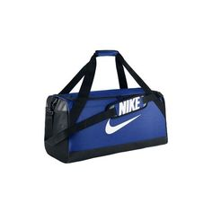 Nike Brasilia (Medium) Training Duffel Bag Messenger bag ($47) ❤ liked on Polyvore featuring bags, messenger bags, blue, messenger bag, courier bag, nike bags, duffle bag and blue duffle bag
