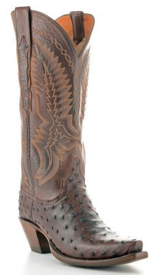 Womens Lucchese Full Quil Ostrich Boots Sienna #Gc9022 via @Allen & Cheryl Smith Boots