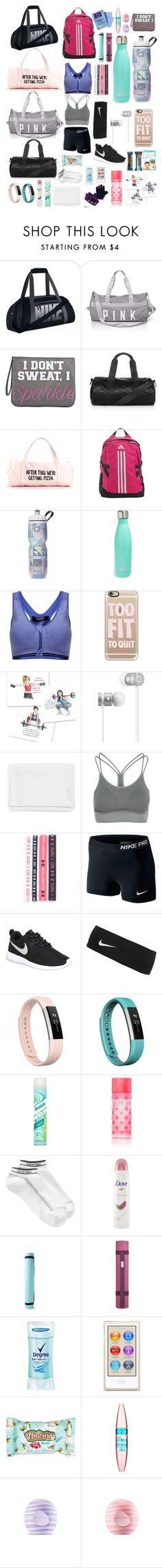 Gym Bag Essentials by ale-needam on Polyvore featuring NIKE, Zensah, Calvin Klein, adidas, Topshop, City Streets, Fitbit, Casetify, Under Armour and Beats by Dr. Dre