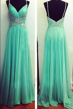 147.10 USD 2017 Custom Made Charming Prom Dress,Chiffon Prom Dress,Beading
