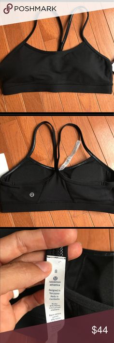 NWT Lululemon Flow T Bra IV size 8 BNWT black Flow Y Bra IV size 8 lululemon athletica Other