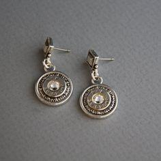 Bullet Earrings-Remington Peters 38 Special P Earrings-Nickel SilverSwarovski Clear Diamond-Ammo Jewelry