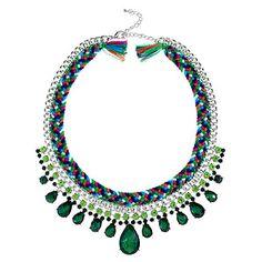 Marrakech Cotton + Gem Necklace - Green – Target Australia