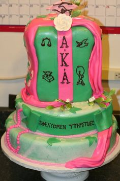 A cake for the ladies of Alpha Kappa Alpha Sorority, Incorporated.