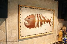 kitchen back splash fish bones and tile Repurposed History Home on Lake Wedowee