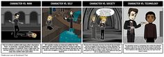 Divergent - Literary Conflict: Having students create storyboards that show the cause and effect of different types of conflicts strengthens analytical thinking about literary concepts. Have your students choose an example of each literary conflict and depict them using the Storyboard Creator. In the storyboard, an example of each conflict should be visually represented, along with an explanation of the scene, and how it fits the particular category of conflict.