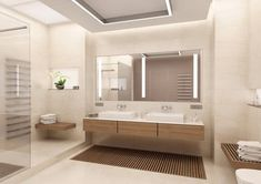 Marvelous And Modern Bathroom Mirror Ideas Small Bathroom, Modern Bathroom, Bathroom Decor, Contemporary House, Bathroom Mirror, Modern, Home Decor, Mirror, Bathroom