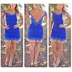 Vestido Renda Azul Andressa