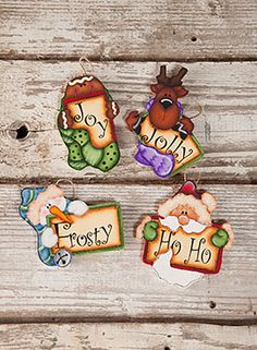 Holiday Word Tags by Lori Cagle - Decorative Painting Patterns from ArtistsClub.com