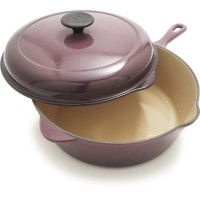$129 Le Creuset® Cherry Deep Covered Sauté Pan, 3¾ qt., by Sur La Table  I want to collect all their pans and pots i purple for my purple-loving little boy