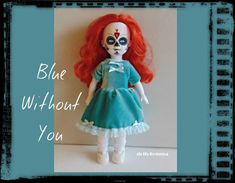 Living Dead Doll Clothes  Teal-Blue Velvet Baby-Doll by DOLLS4EMMA on Etsy