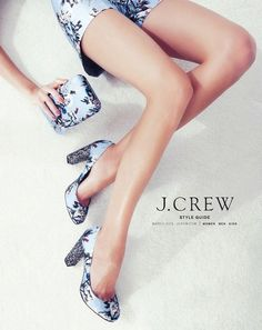 Browse and flip the pages of the J Crew Catalog right online Ad Fashion, Editorial Fashion, Womens Fashion, Blue Fashion, J Crew Catalog, Socks And Sandals, Glitter Heels, Italian Shoes, Shoe Collection