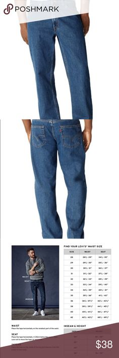 NWT Men's 550 Levi's Relaxed Fit 32 x 34 NWT Men's 550 Relaxed Fit Jeans Blue- 32 x 34 Levis Jeans Relaxed
