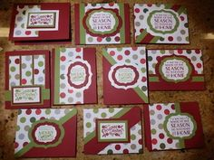 The idea of One Sheet Wonder (OSW) cards is absolutely brilliant. It& a way to make a lot of pretty cards fast. Christmas Cards 2018, Homemade Christmas Cards, Xmas Cards, Homemade Cards, Holiday Cards, Christmas Labels, Cozy Christmas, Christmas Abbott, Christmas Cactus