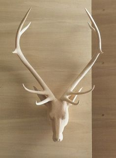 Roost Carved Wood Noble Stag