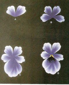 Detalle de las flores del cuadro decorativo. Acrílicos.