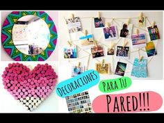 Decora tu pared! ♡ DIY - YouTube