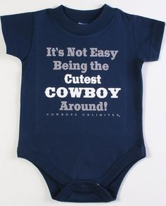 Moss Brothers Inc. Boys' Cutest Cowboy Around Onesie - Infant - www.fortwestern.com  http://www.fortwestern.com/moss-brother-inc-boys-cutest-cowboy-around-onesie-infant/p/421475/