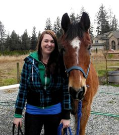 Rescue coordinator, Amy, with her J adoptee, Kal-El