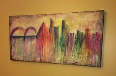 Large Memphis landscape on Etsy, $185.00
