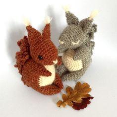 Coco The Squirrel Amigurumi Pattern - http://pinterest.com/Amigurumipins