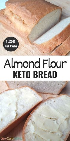 This almond flour bread recipe is the best low carb bread recipe. If you are looking for a healthy and easy keto bread recipe, this is it. #lowcarb #keto #ketobread #lowcarbalpha Easy Low Carb Bread Recipe, Best Low Carb Bread, Lowest Carb Bread Recipe, Low Carb Recipes, Whole Food Recipes, Almond Flour Bread, Almond Flour Recipes, Low Carb Flour, Keto Flour