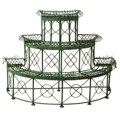 Iron tiered plant stand Period : 19th century