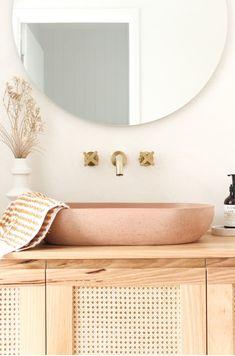 Boho Bathroom, Bathroom Renos, Laundry In Bathroom, Bathroom Renovations, Small Bathroom, Home Remodeling, Bathroom Ideas, Master Bathroom, Bathroom Tapware