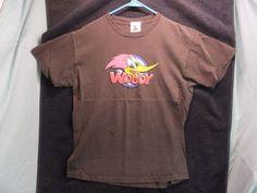 Woody Woodpecker Universal Studios Adult M 100%Cotton,Brown and Short Sleeve #universalstudios #ShortSleeve