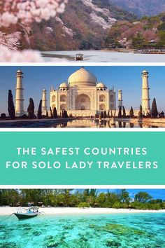 The Safest Countries for Solo Lady Travelers | PureWow. Peace of mind when going it alone.  Traveling solo is an enriching experience, offering up the chance for the kind of discovery and self-growth you just won't get with Aunt Meg and Cousin Judy in tow. As far as safety goes, you can bet on the tried and true--Canada, Europe, Australia, Scandinavia--or give one of these still super-safe and off-the-beaten-path destinations a try.