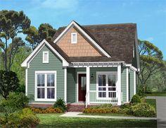 Main rendering of Craftsman house plan 142-1041