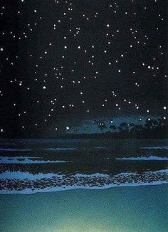 Kawase Hasui - Night Sea  Woodblock Print 1930.
