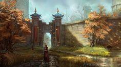 fantasy landscape castle - Google Search