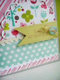 Birthday wishes with my new pinking and scallop border dies