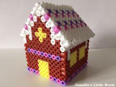 3D Hama bead gingerbread house