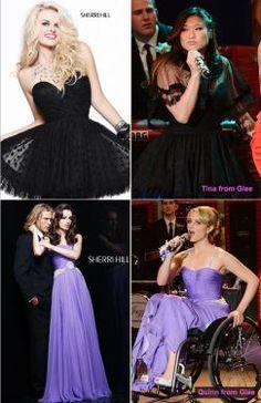 Dianna Argon wearing 1463 and Jenna Ushkowitz in 2843 on Glee's latest prom episode!
