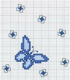 pajaritos y mariposas en punto de cruz - Buscar con Google