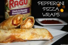 Need an easy and delicious tailgating recipe? Check out these Pepperoni Pizza Wraps made with Ragu!  Yum! #Ragutailgating #ad