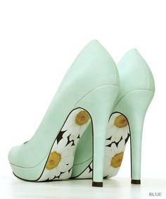 RANDA (Randa) ★ official site │ Women's Shoes Store [2015S / S] New pastel color planes pumps /DS4141/Y(22.0 Blue): Pumps