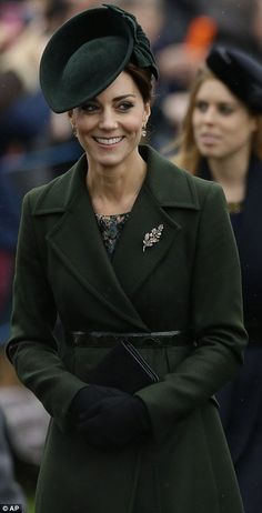 The Duchess of Cambridge today...