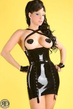 Latex Rubber Little Black Dress by KaorisLatexDreams on Etsy